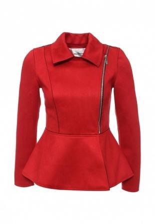 Красные куртки, куртка кожаная tutto bene, осень-зима 2016/2017