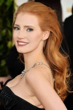 Золотистый цвет волос, модный рыжий цвет волос