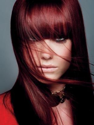 Цвет волос махагон, красный цвет волос