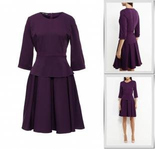 Фиолетовые платья, платье love & light, осень-зима 2016/2017