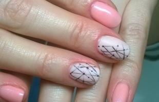 Бело-розовый маникюр, рисунки на ногтях своими руками