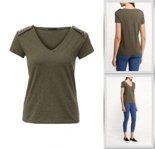 Хаки футболки, футболка sisley, весна-лето 2016