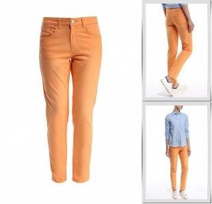 Оранжевые джинсы, джинсы troll, весна-лето 2015