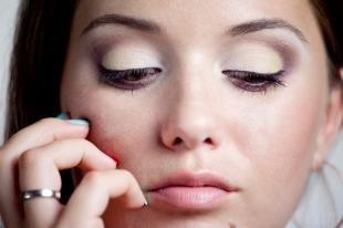 Макияж для полных лиц, дневной макияж для круглых глаз