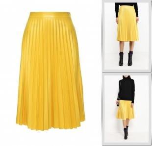 Желтые юбки, юбка pinko, осень-зима 2016/2017