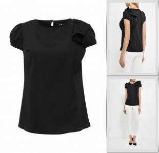 Черные блузки, блуза adl, осень-зима 2016/2017