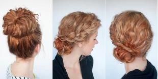 Светло рыжий цвет волос, быстрые прически для вьющихся волос