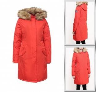 Красные куртки, куртка утепленная kamora, осень-зима 2016/2017