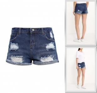 Синие шорты, шорты джинсовые jennyfer, весна-лето 2016