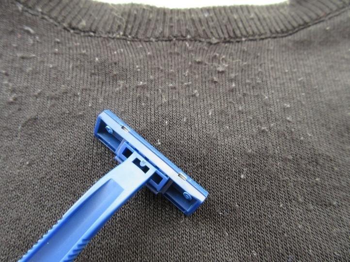 Бритвенный станок или лезвие - катышки на одежде