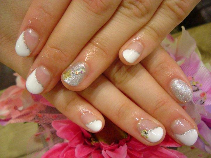 Французский маникюр (френч) на коротких ногтях, фото 9