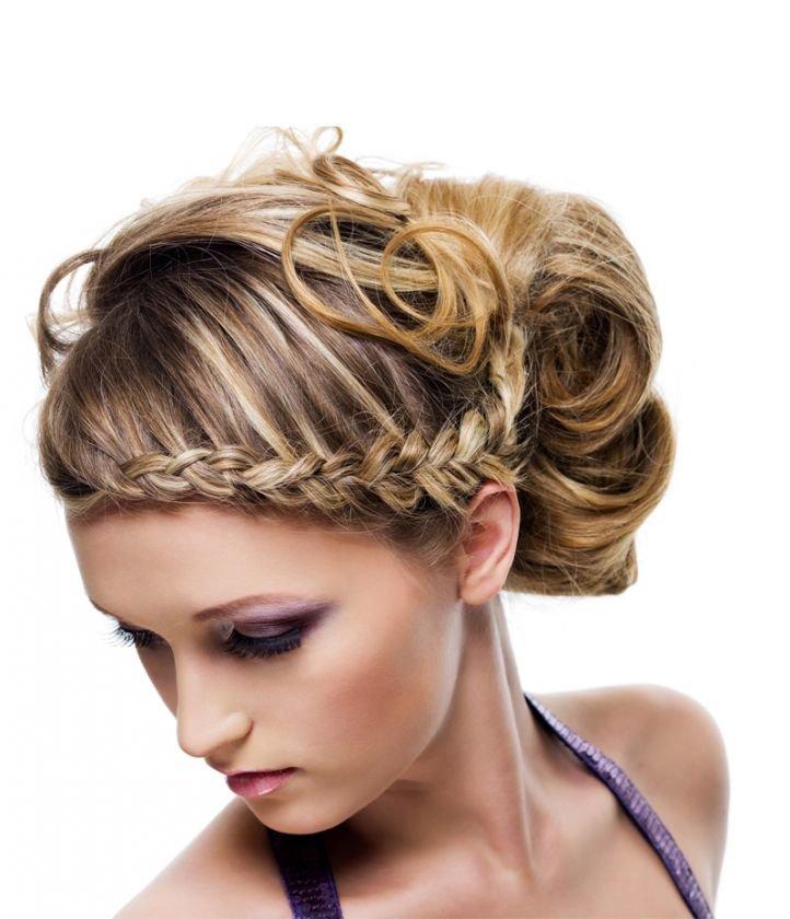 Прически на средние волосы - коса