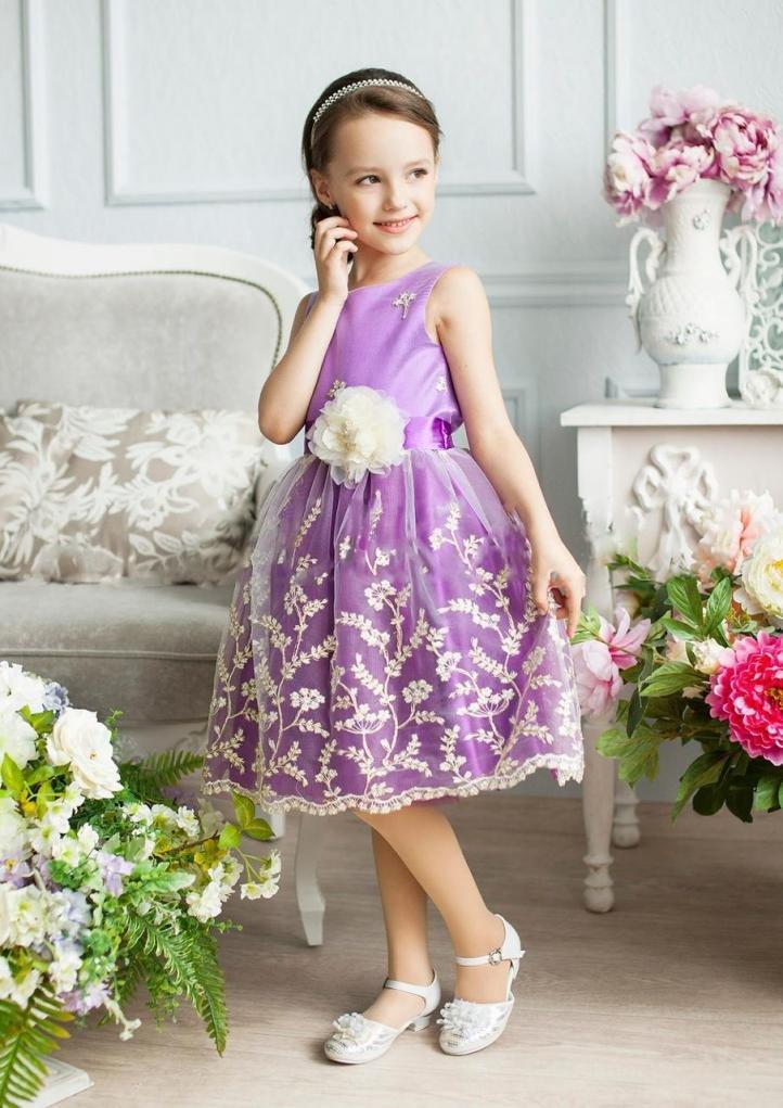 Лиловое платье на выпускной в детский сад