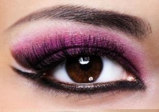 Arabisches Make-up für braune Augen,