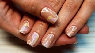 Рисунки белым лаком на ногтях, красивый маникюр шеллаком