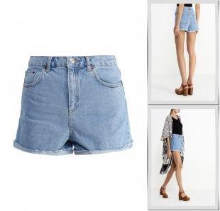 Шорты, шорты джинсовые topshop, весна-лето 2016