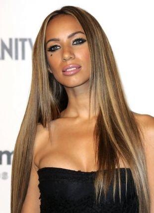 Цвет волос светлый шатен на длинные волосы, насыщенное мелирование на темные волосы