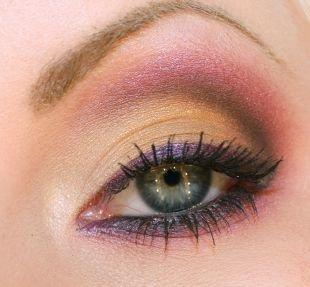 Макияж на день рождения, яркий летний макияж для серо-голубых глаз