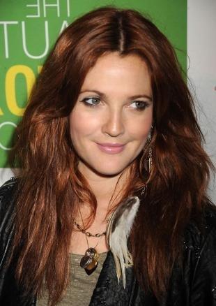 Темно рыжий цвет волос, темно-медный цвет волос