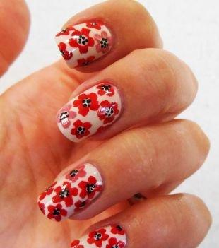 Идеи рисунков на ногтях, маникюр с маками