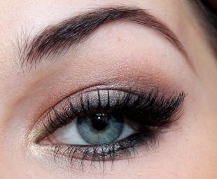 Свадебный макияж для брюнеток, превосходный макияж для серо-голубых глаз