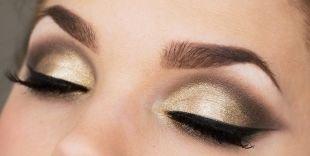 Профессиональный макияж, великолепный вечерний макияж зеленых глаз