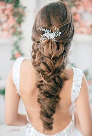 Свадебные прически локоны, изумительная свадебная прическа на длинные волосы