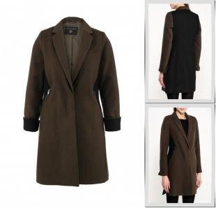 Хаки пальто, пальто dorothy perkins, осень-зима 2015/2016