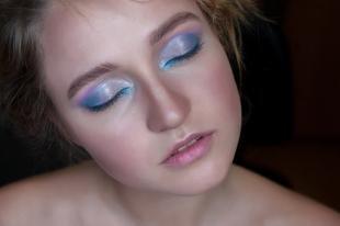 Свадебный макияж с синими тенями, модный макияж на день рождения