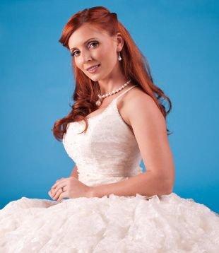 Профессиональный свадебный макияж, нежный макияж для девушек с рыжими волосами