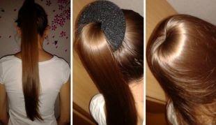 Прически для девочек на длинные волосы, прическа с бубликом для длинных волос