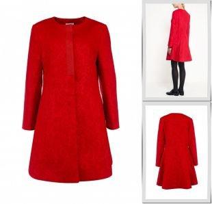 Красные пальто, пальто lamania, осень-зима 2015/2016