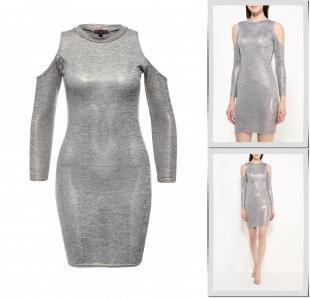 Серебряные платья, платье missi london, осень-зима 2016/2017
