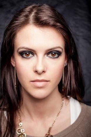 Красивый макияж, макияж смоки айс для карих глаз