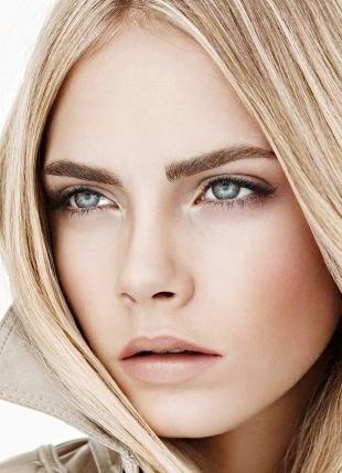 Легкий макияж для серых глаз, летний nude макияж