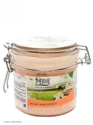 Апельсиновый скраб для тела, therme скраб- желе тайский жасмин для тела  350 мл new