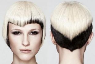 Макияж для блондинок с карими глазами, окрашивание омбре на короткой стрижке