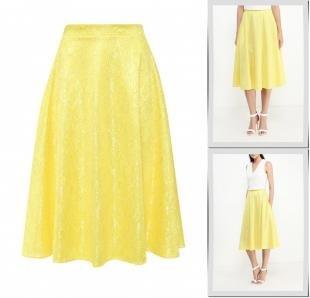 Желтые юбки, юбка love & light, осень-зима 2016/2017